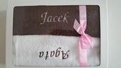 Komplet ręczników na prezent dla niego i dla niej