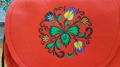 Torebka z filcu czerwona